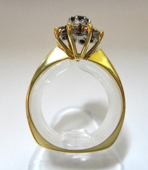 18CT Yellow Gold, Diamond & Sapphire Ring