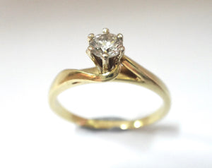 0.28 Carat Diamond Solitaire Ring set in 18CT GOLD
