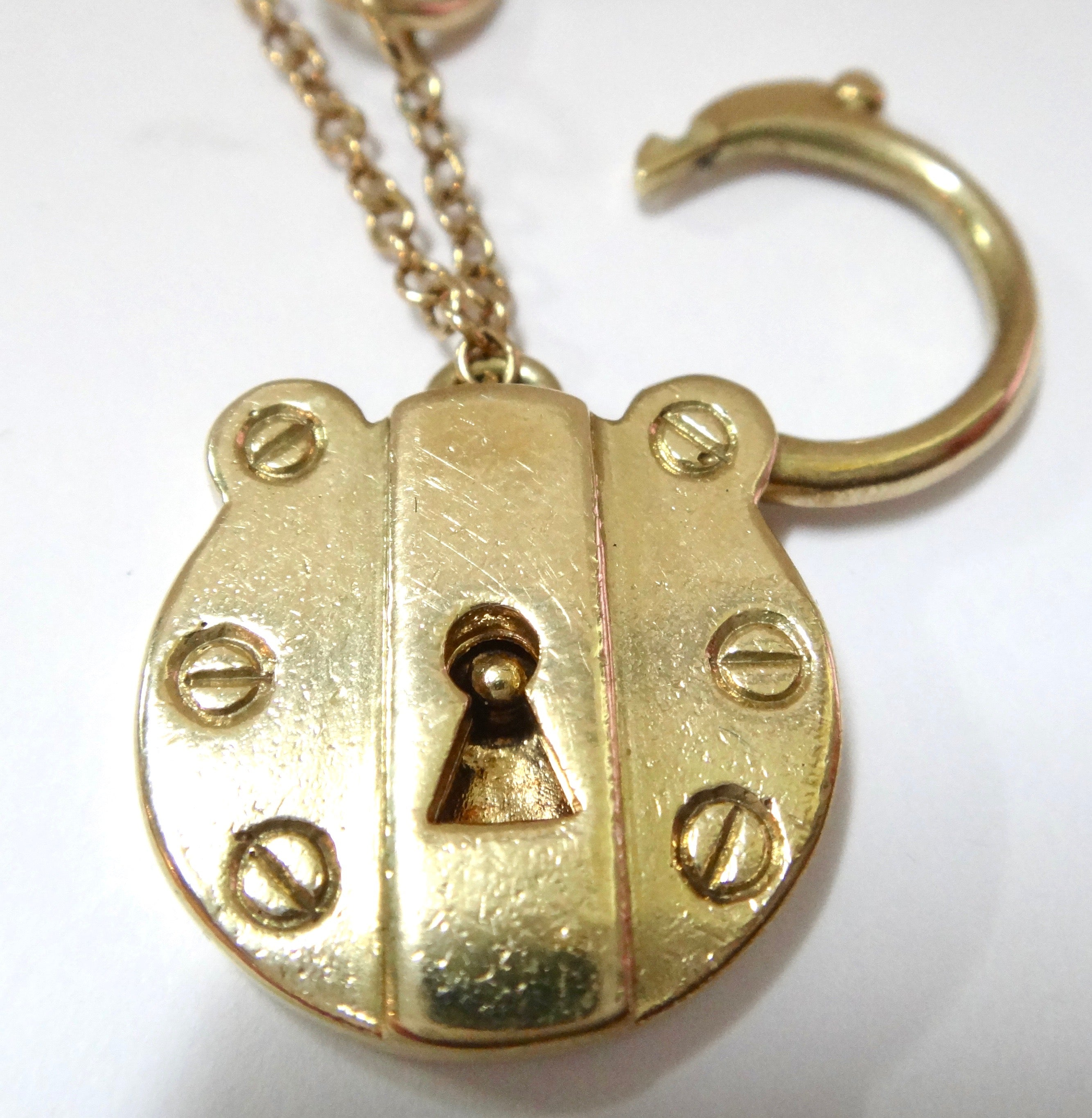 Heavy 9CT Gold Bracelet with Padlock Locket