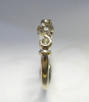9CT Gold & 3 Stone Diamond Ring