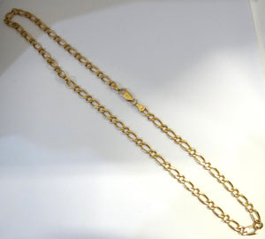 9CT Yellow Gold Curb Link Necklace