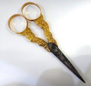 ANTIQUE 18CT GOLD French Sewing Accoutrements c.1830s