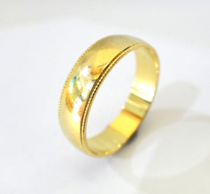 18CT Yellow GOLD Wedding Band Ring