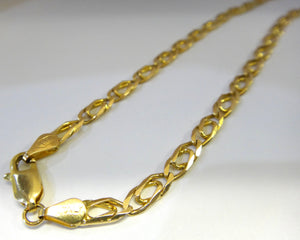 14CT Yellow GOLD Curb Link Style Necklace