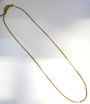 18CT Yellow GOLD Box Link Chain Necklace