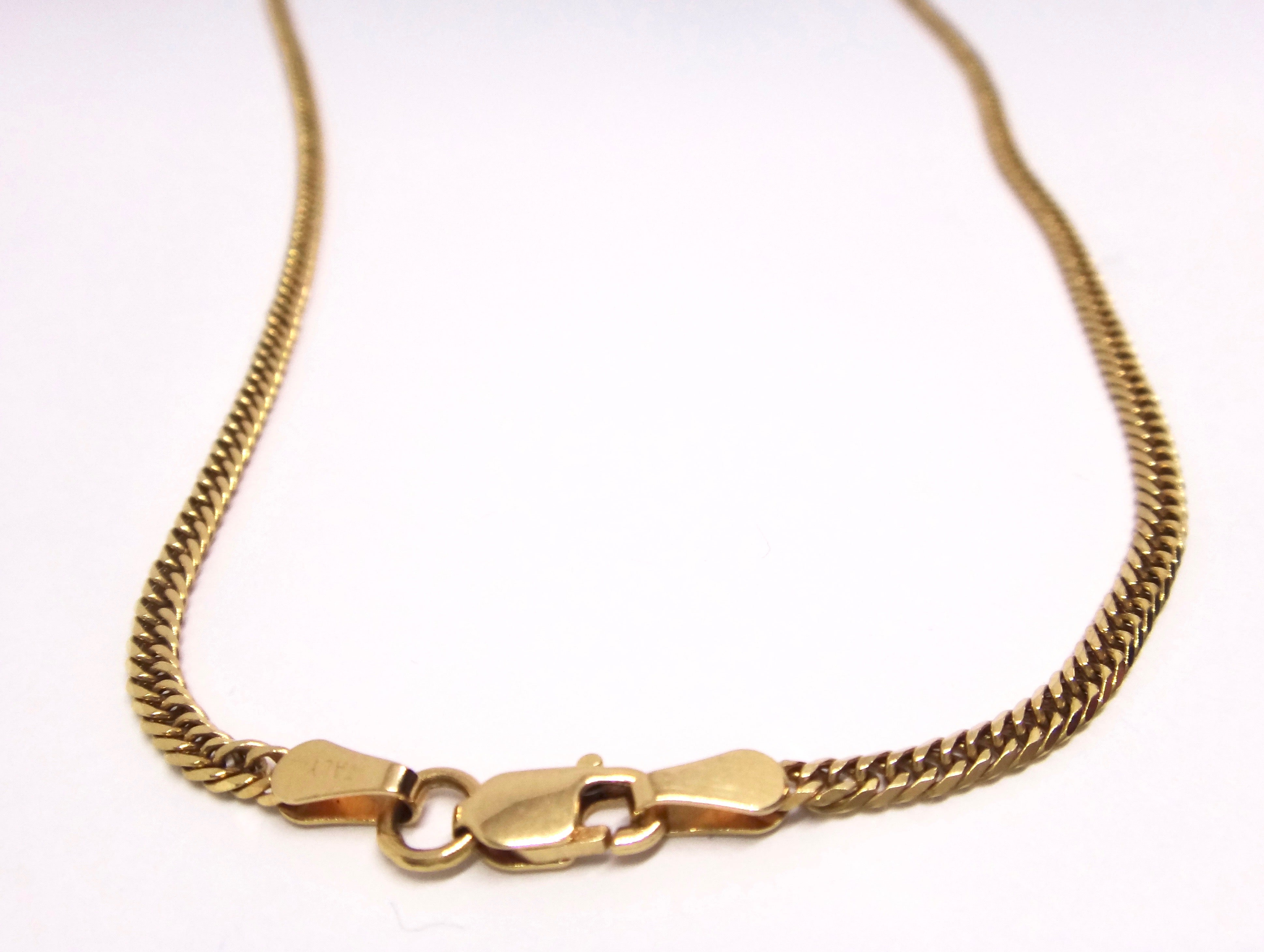 18CT Yellow GOLD Curb Link Style Chain Necklace