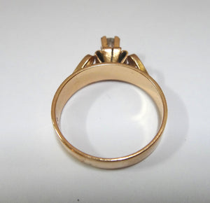 18CT Rose Gold & Diamond Solitaire Ring