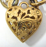 Engraved 9 Ct Gold Bracelet with Heart Locket