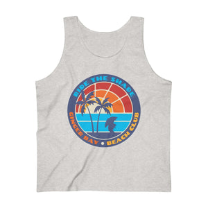 Ginger Bay Beach Club - Men's Ultra Cotton Tank Top - DESIGN ON FRONT