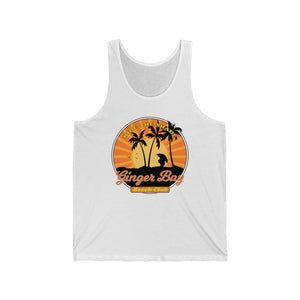 Ride The Shade - Ginger Bay Beach Club - Unisex Jersey Tank - FRONT PRINTED DESIGN