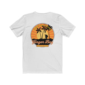Ride The Shade - Ginger Bay Beach Club Unisex T-Shirt - DESIGN ON BACK