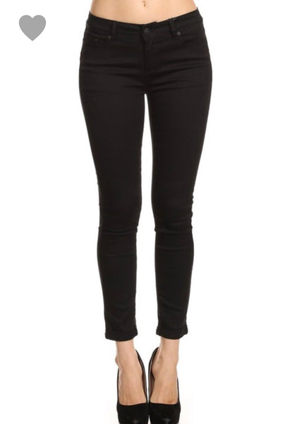 Curve Enhancing Black Skinny Pant - Ashley Claire Boutique