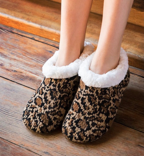 Cozy Animal Print Slippers