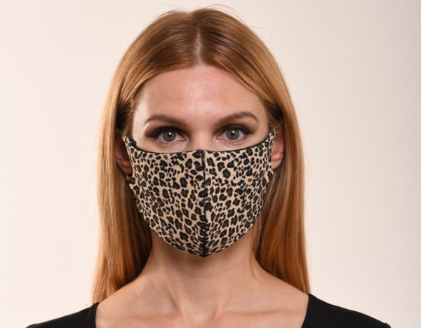 Leopard Print Double Layer Mask
