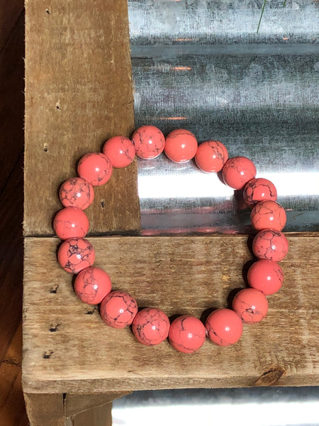 Karyssa Coral Cooling Beads Bracelet - Ashley Claire Boutique