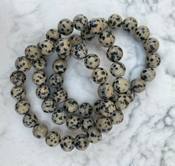 Abbey Taupe Speckled Bead Bracelet