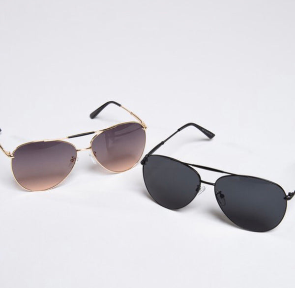 Black Fashion Sunglasses - Ashley Claire Boutique