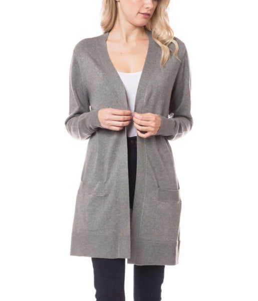 Paige Grey Tunic Cardigan