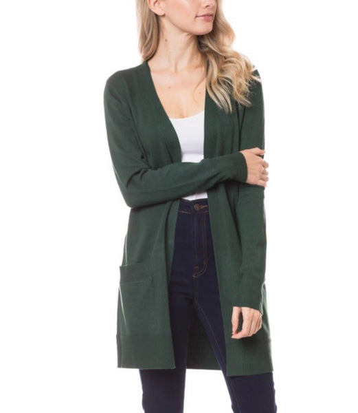Paige Deep Green Tunic Cardigan