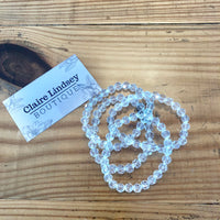 Melanie Clear Crystal Bracelet - Ashley Claire Boutique
