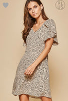 Tilly Leopard Swing Dress with Tiered Sleeves