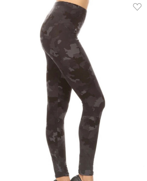 Butter Soft One Size Camo Leggings