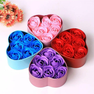 6pcs Heart Scented Bath Body Rose Petal Soap
