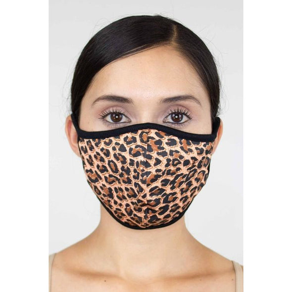 Animal Print Face Mask - Brown