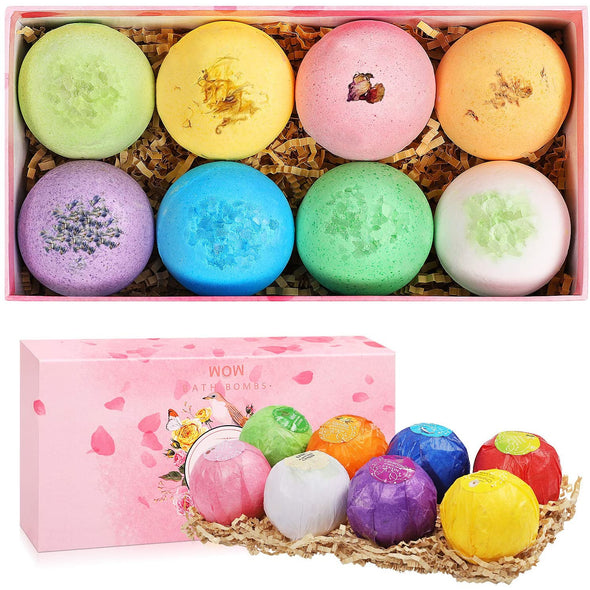 8 Pc All Natural Handcrafted  Bath Bomb Gift Set