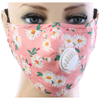 Flower Design Reusable Cotton Mask with Valve and Filter PM2.5