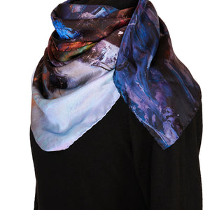 South Beach Harbor, 90x90 cm Luxury Italian Silk Scarf