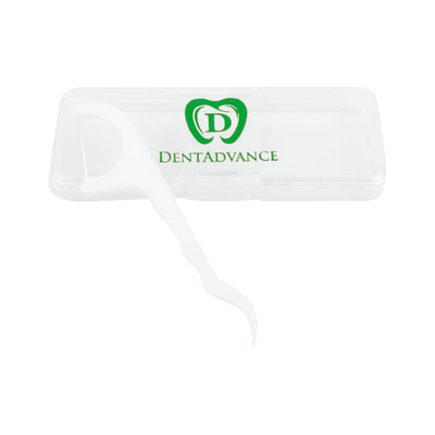 Floss Picks by DentAdvance: Interdental & Gum Cleaning Floss Picks For Plaque Removal & Oral Hygiene, Easy Reach & Deep Cleansing - Mint Flavored