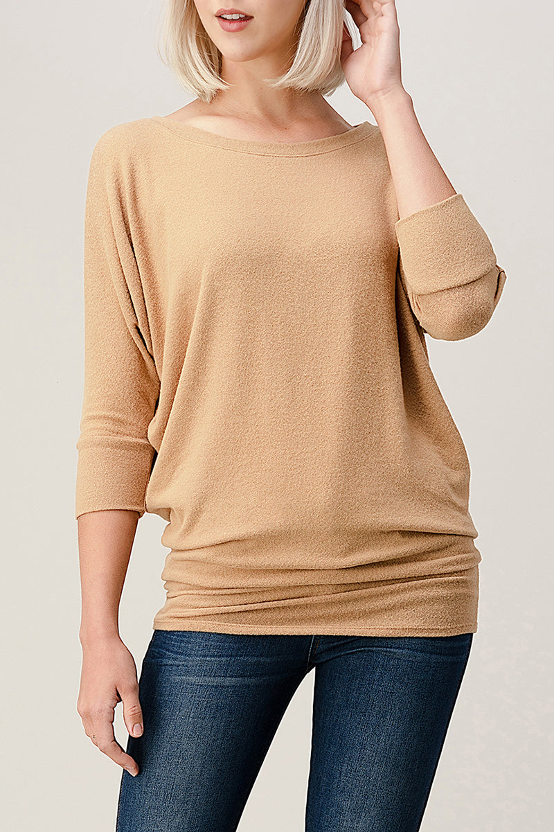 Intermingled Brushed Hacci Top 2503BR