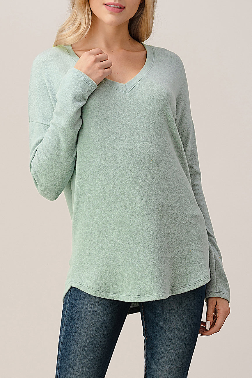 Intermingle Brushed Hacci Top 2738