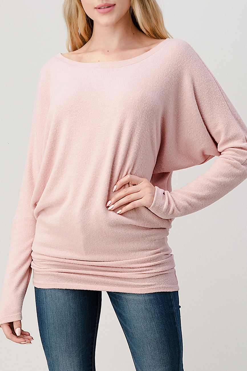 Intermingle Brushed Hacci Top 2739