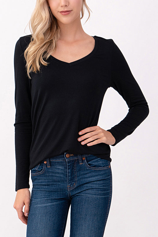 natural life super soft ecological modal jersey long sleeve top
