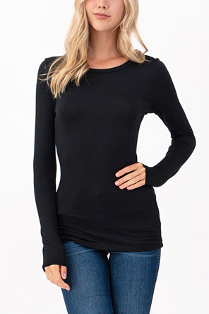 Premium quality Lenzing Modal Jersey basic long sleeve top