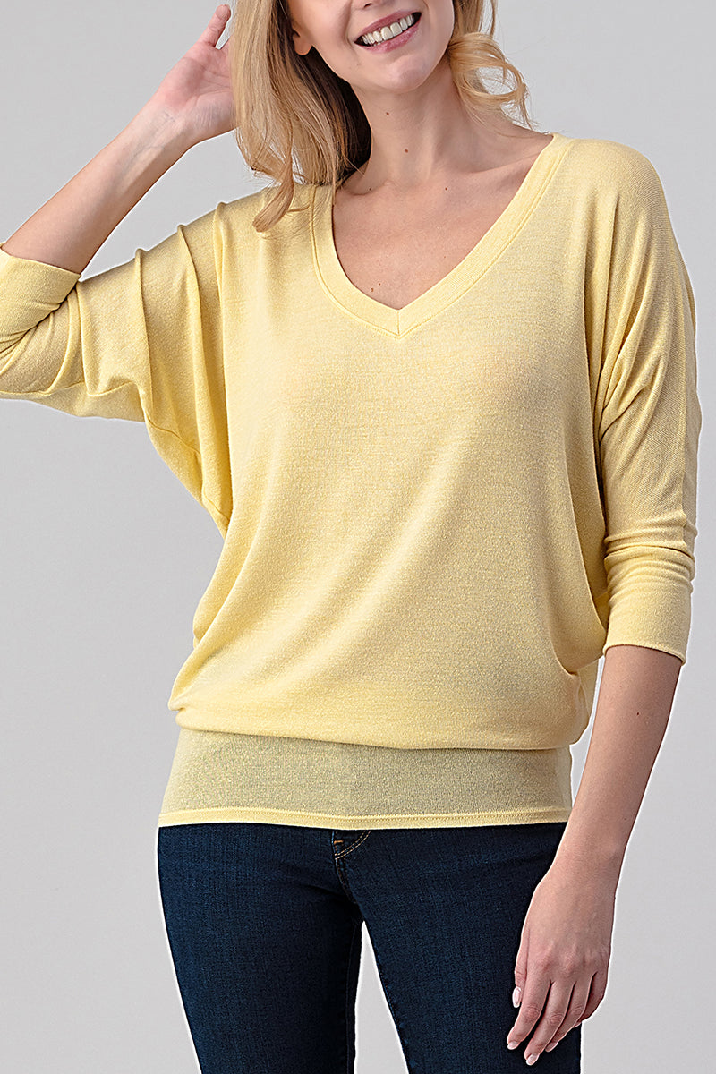 Natural Life Best Seller #2731 light weight hacci 3/4 dolman sleeve top
