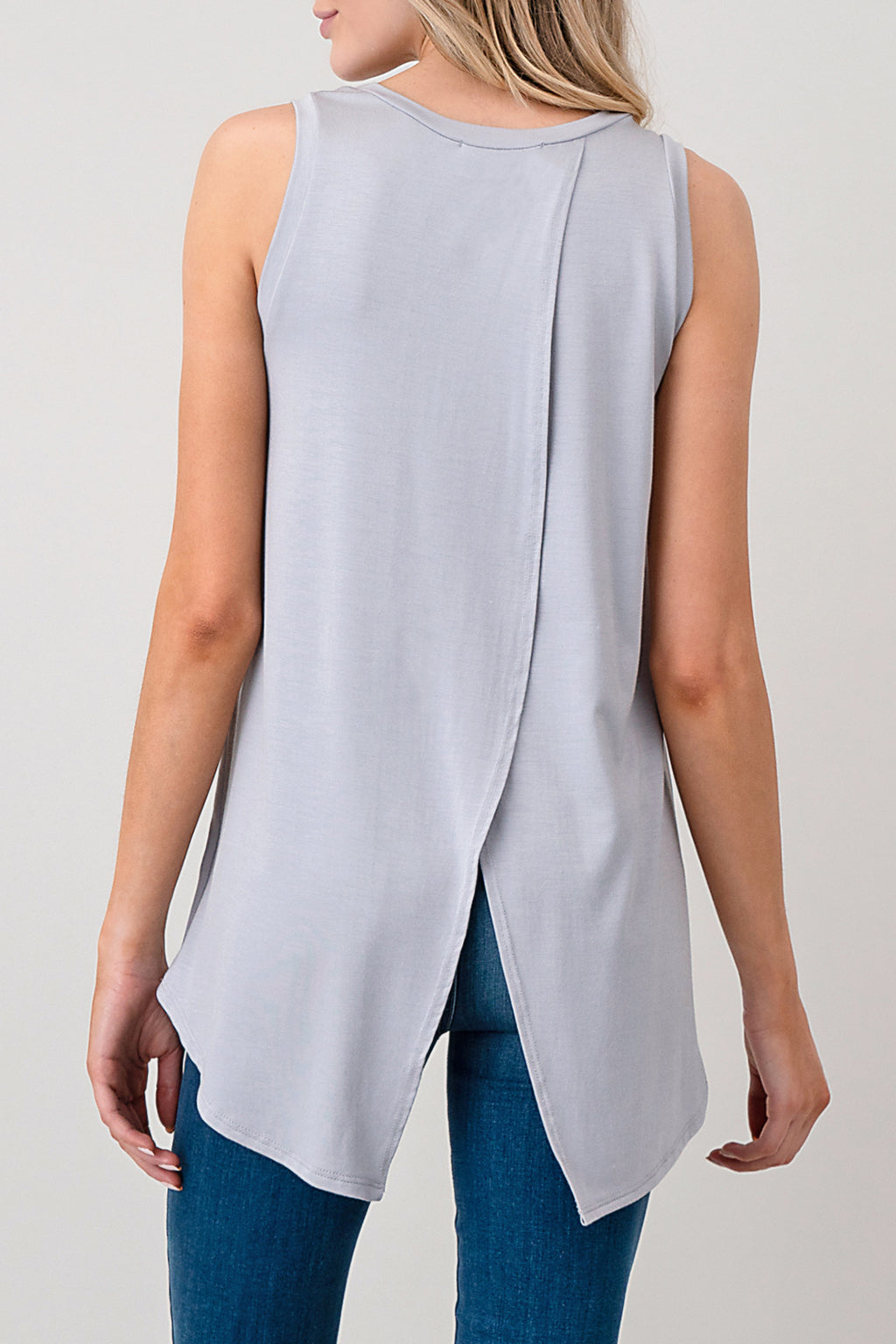 crisscross open back flyaway tank top by natural life wholesale
