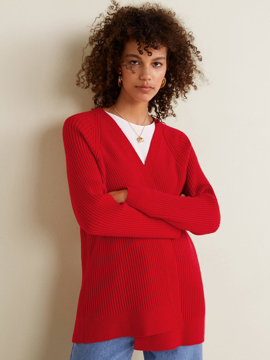 Red Sweater - V Neck