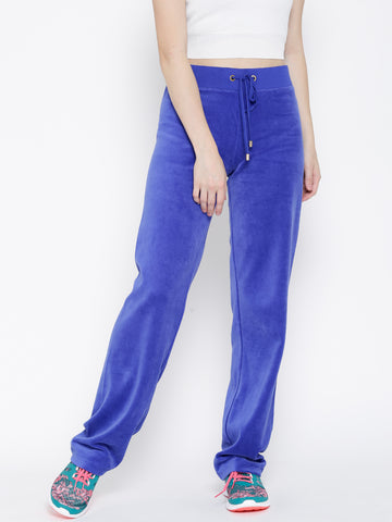 Blue Velvet Finish Track Pants