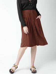 Brown A-Line Skirt