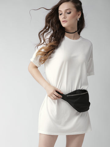 Women White Solid Dress