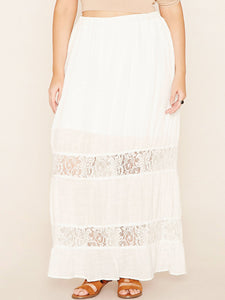 White Flared Skirt