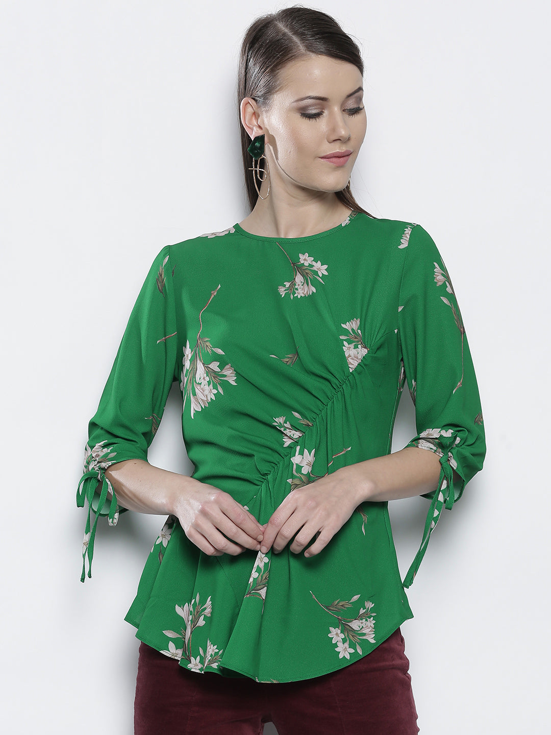 Women Green Printed Top