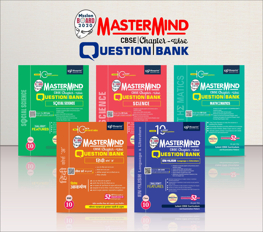 Master Mind CBSE Chapter-wise Question Bank Combo Pack Class 10 (Hindi Course 'A', English, Mathematics, Science & Social Science)