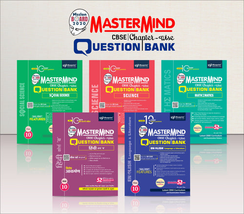 Master Mind CBSE Chapter-wise Question Bank Combo Pack Class 10 (Hindi Course 'B', English, Mathematics, Science & Social Science)