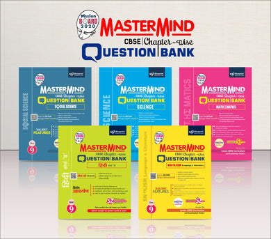 Master Mind CBSE Chapter-wise Question Bank Combo Pack Class 9 (Hindi Course 'B', English, Mathematics, Science & Social Science)
