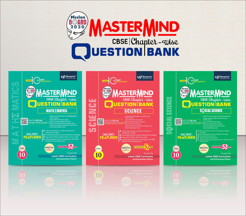 Master Mind CBSE Chapter-wise Question Bank Combo Pack Class 10 (Science, Mathematics & Social Science)