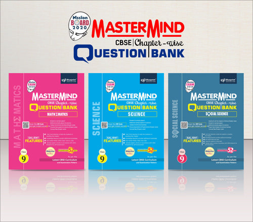 Master Mind CBSE Chapter-wise Question Bank Combo Pack Class 9 (Science, Mathematics & Social Science)